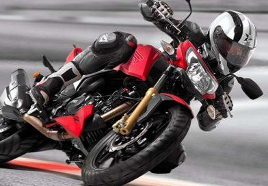 TVS Apache RTR 200 4V Motorcycle.