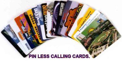 Pin less Calling Cards